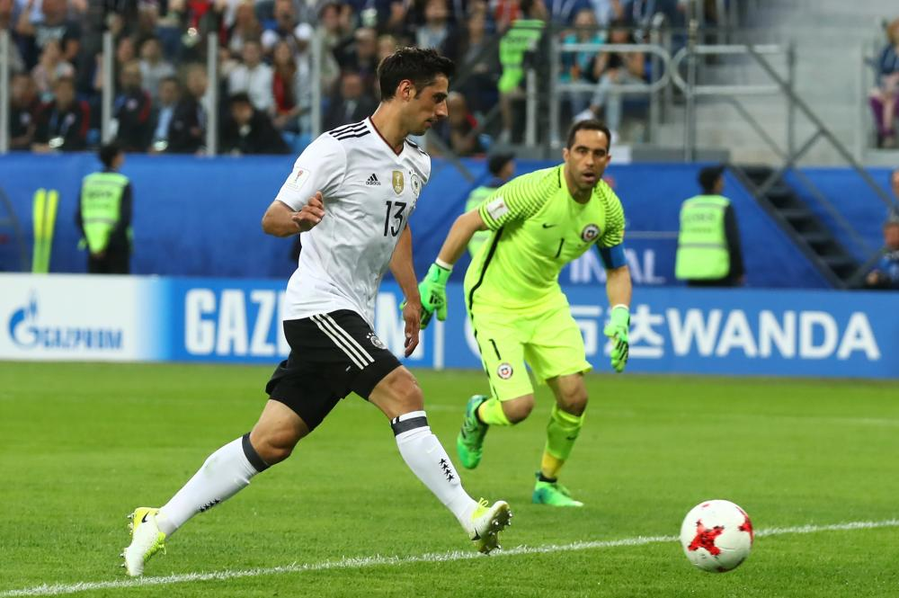 Stindl slots the ball into an unguarded net.