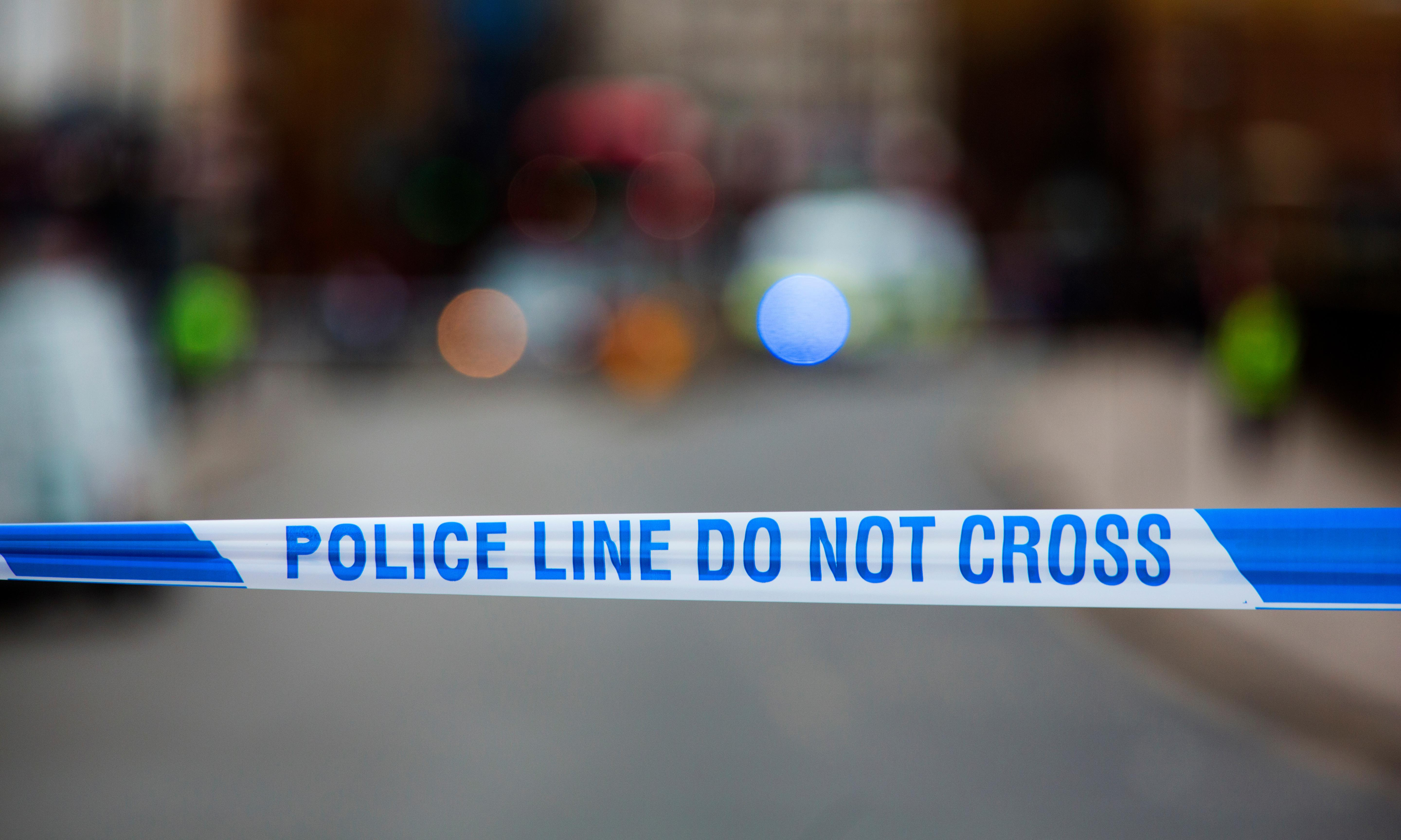 Five arrested for affray after car driven into group in London