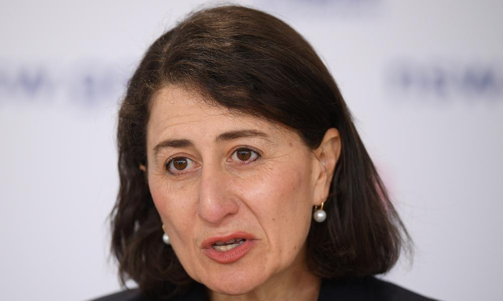 New South Wales Premier Gladys Berejiklian addresses media during a press conference in Sydney, New South Wales.