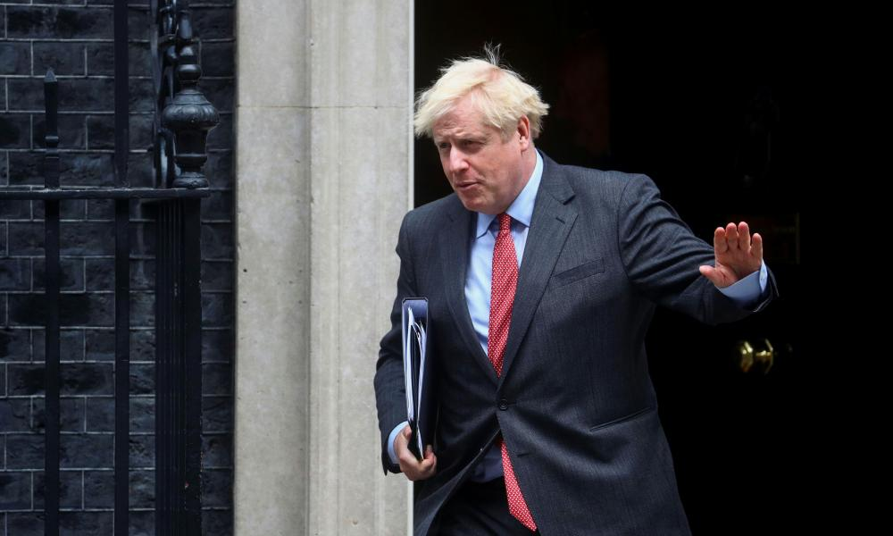 Boris Johnson leaving No 10 a few minutes ago, ahead of his Commons statement.
