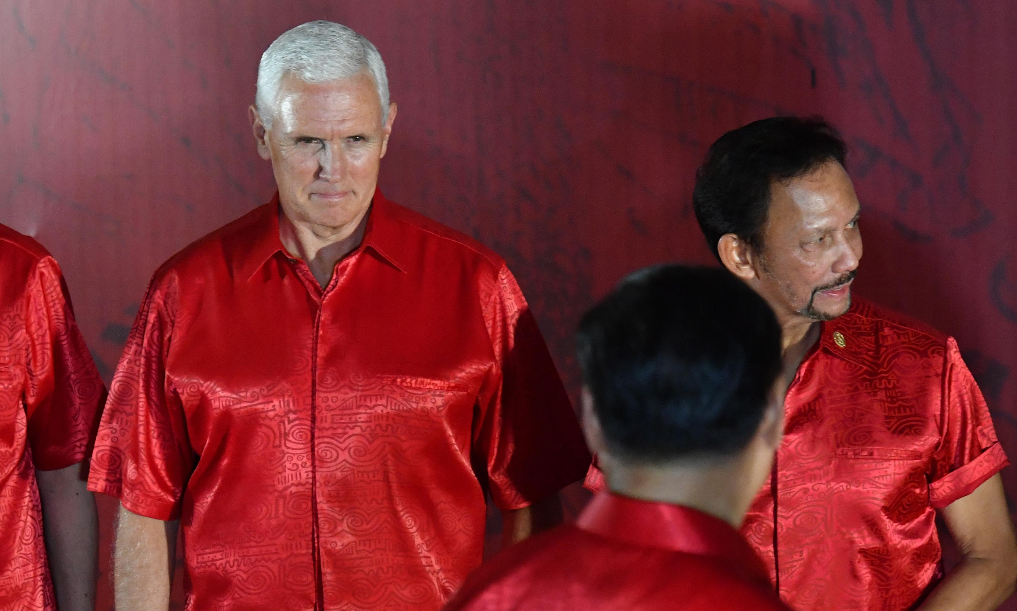 Apec summit: Mike Pence warns of China's 'constricting belt' and 'one-way road'