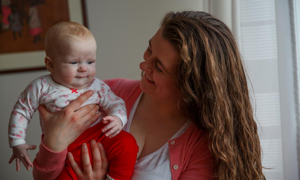 Thorunn M Ingvarsdóttir, mother of two, in Iceland. Women make up 38.6% of the Nordic country's governing body.