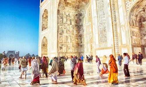 The increasing number of tourists at the Taj Mahal is putting up maintenance costs.