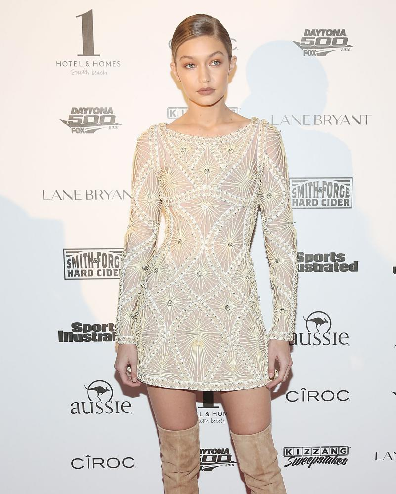 Gigi Hadid … lampshading, if you must.