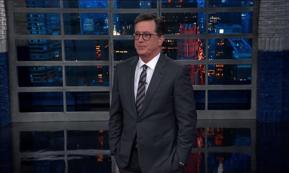 Stephen Colbert on Trump's visit to Britain: 'America was 239lb smarter'