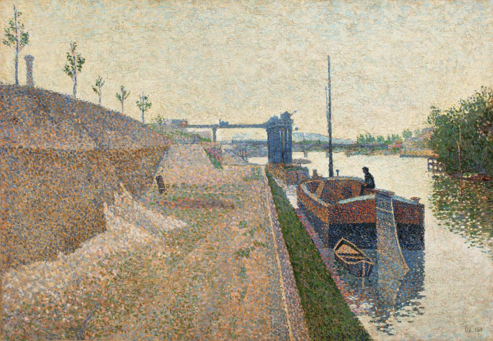Quai de Clichy. Temps Gris, by Paul Signac