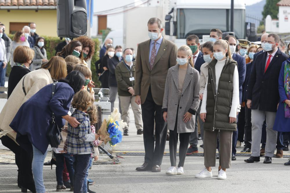 King Philip VI and Queen Letizia, together with Infanta Sofia and Princess Leonor, visit Somao, Spain, which has been honoured as the 2020 Best Asturian Village.