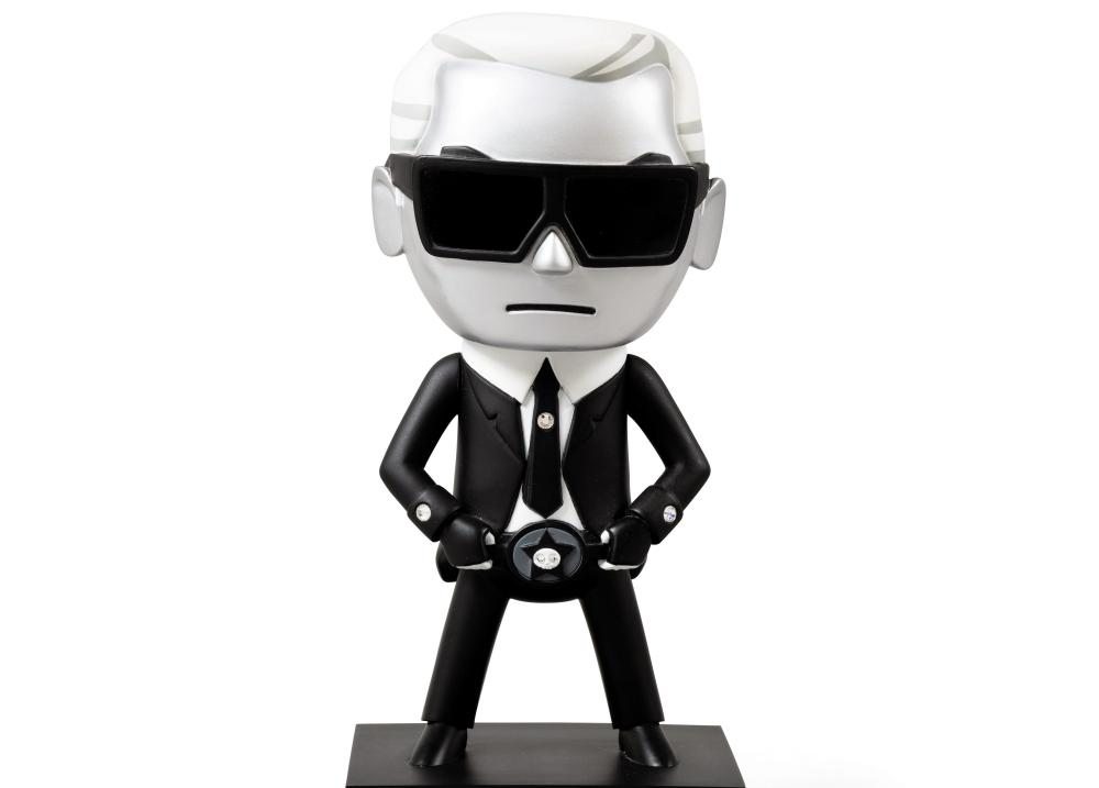 Caricature statue of Karl Lagerfeld
