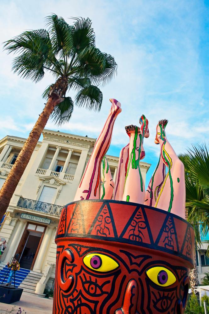 Contemporary art at La Malmaison in Cannes.
