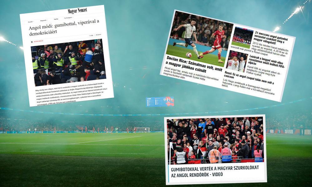 Magyar Nemzet, Nemzeti Sport and Origo headlines from the clash at Wembley Stadium.