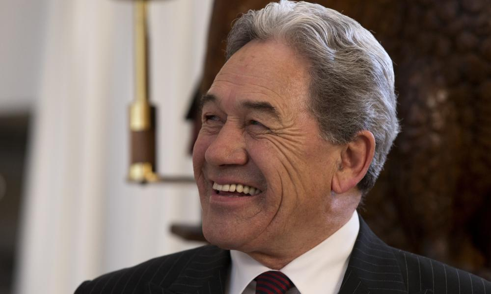Winston Peters smiles during an election event in Christchurch