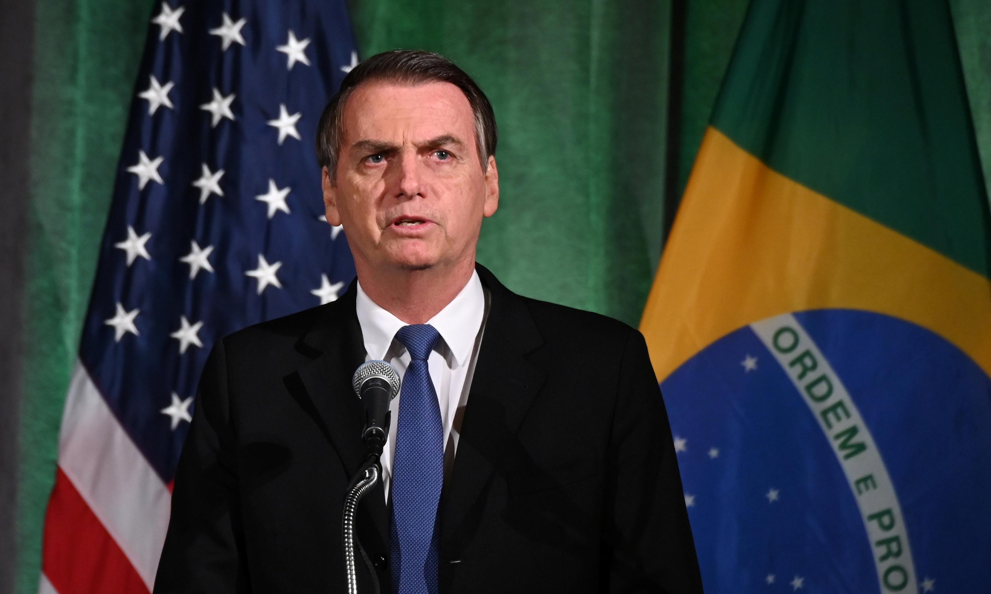 Jair Bolsonaro backs Trump's border wall ahead of White House meeting
