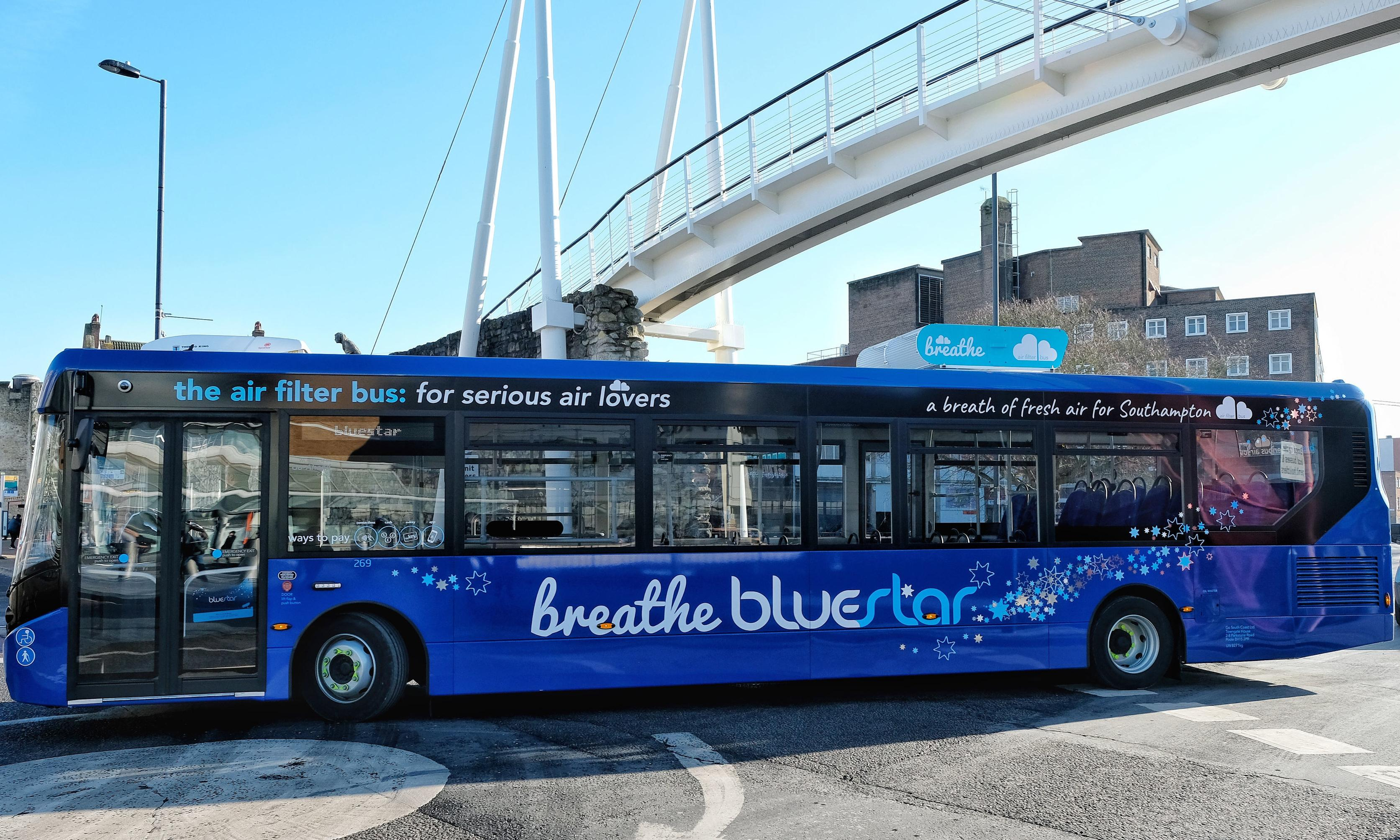Air-filtering bus to launch across six regions in the UK