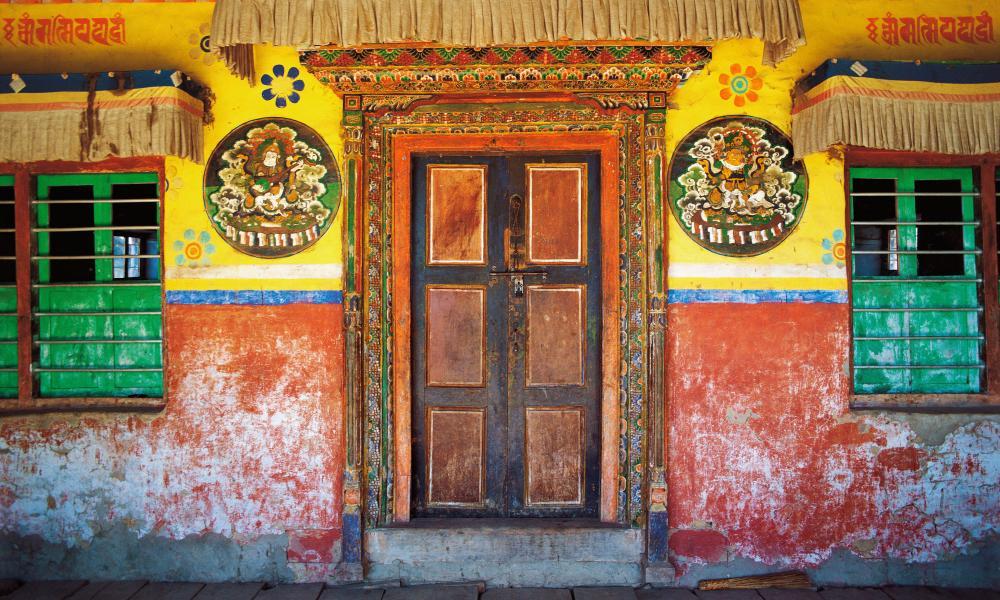 The entrance to the village shrine, Kakani