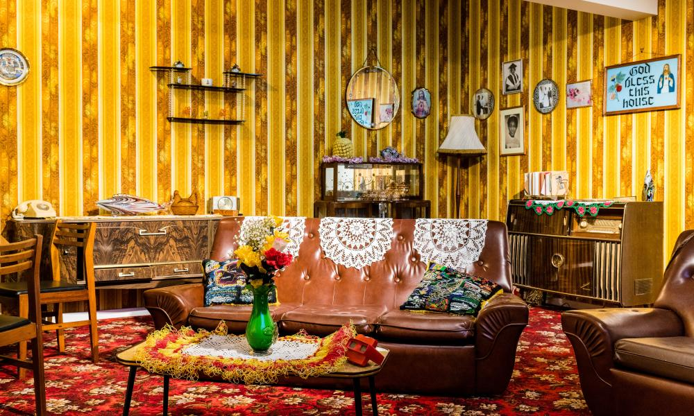 The new 1970s front room in Rooms Through Time curated by Michael McMillan