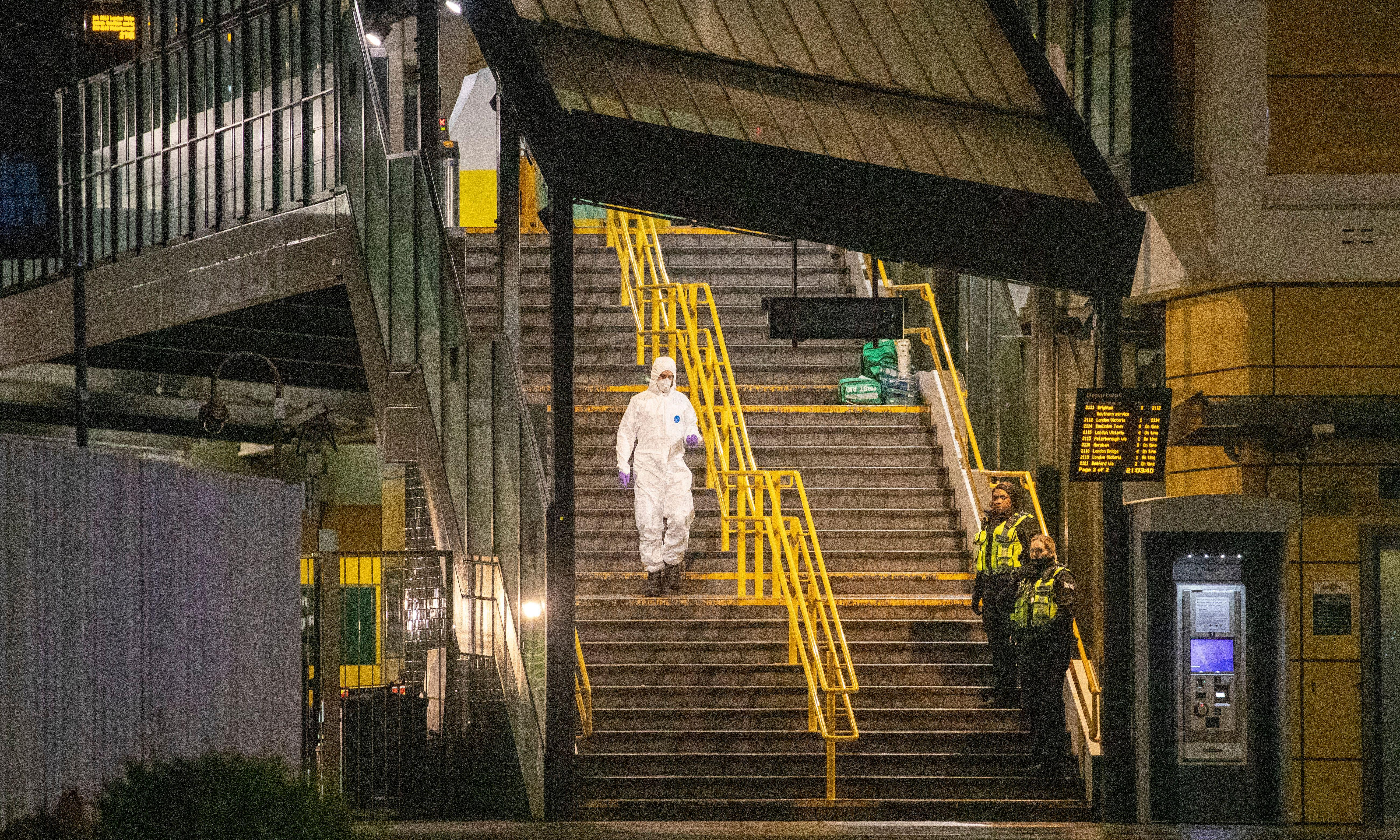 Teenager stabbed to death at busy London train station