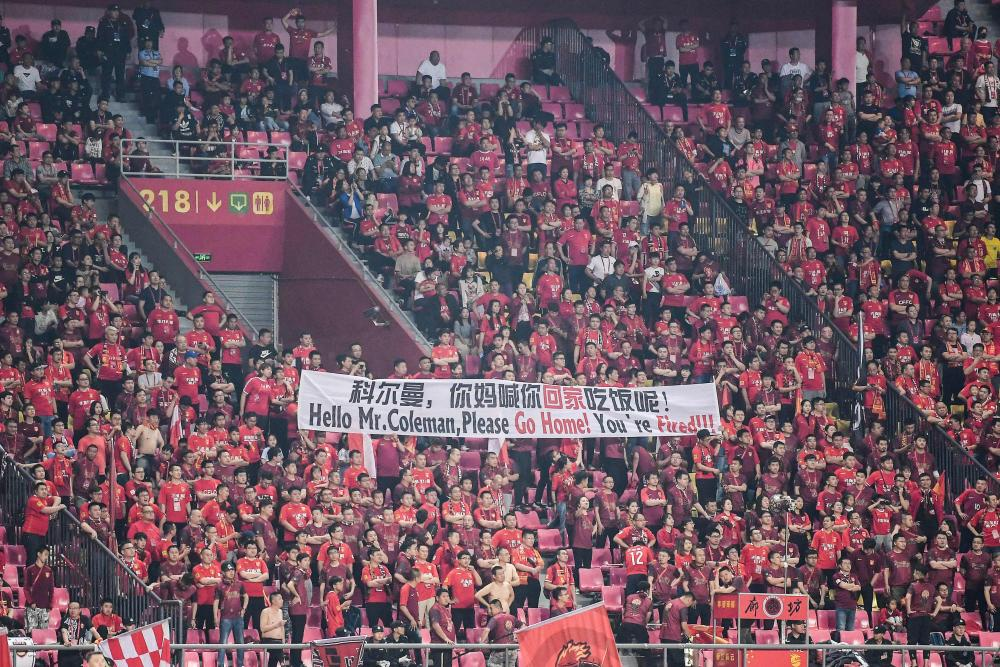 A happy day for these Hebei China Fortune fans, then.