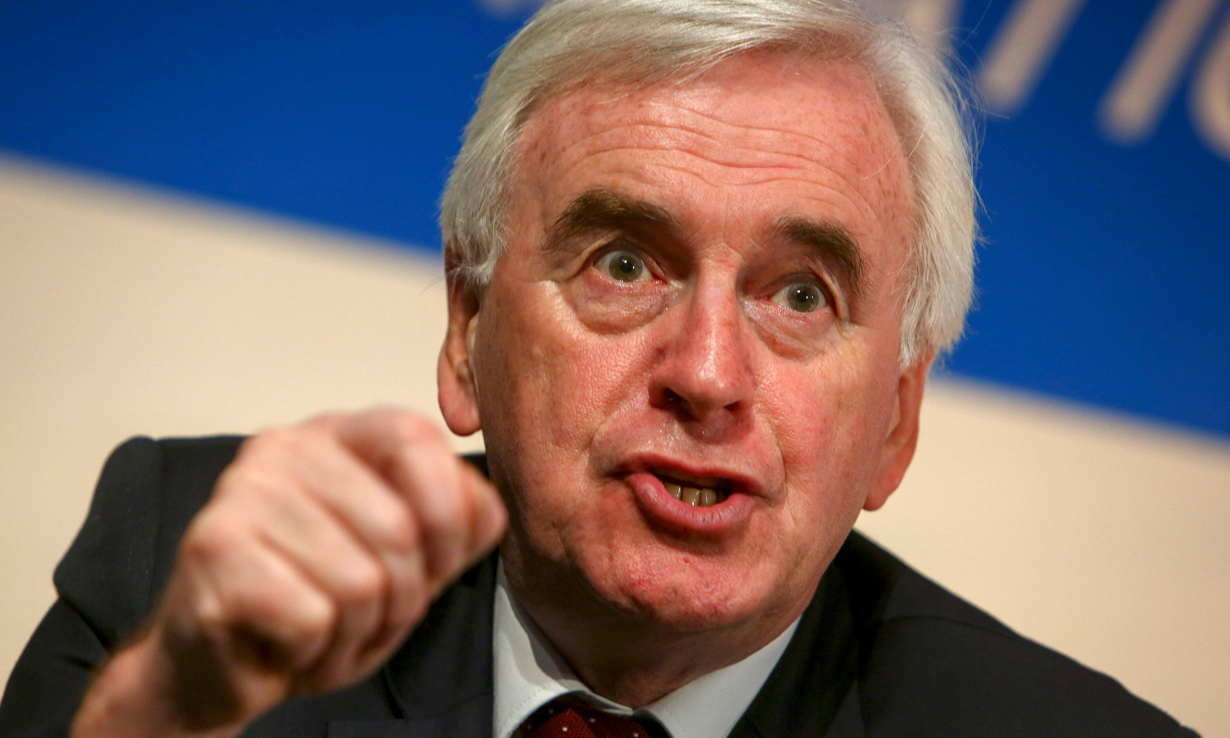 Labour would break up Treasury and create northern No 11, says McDonnell