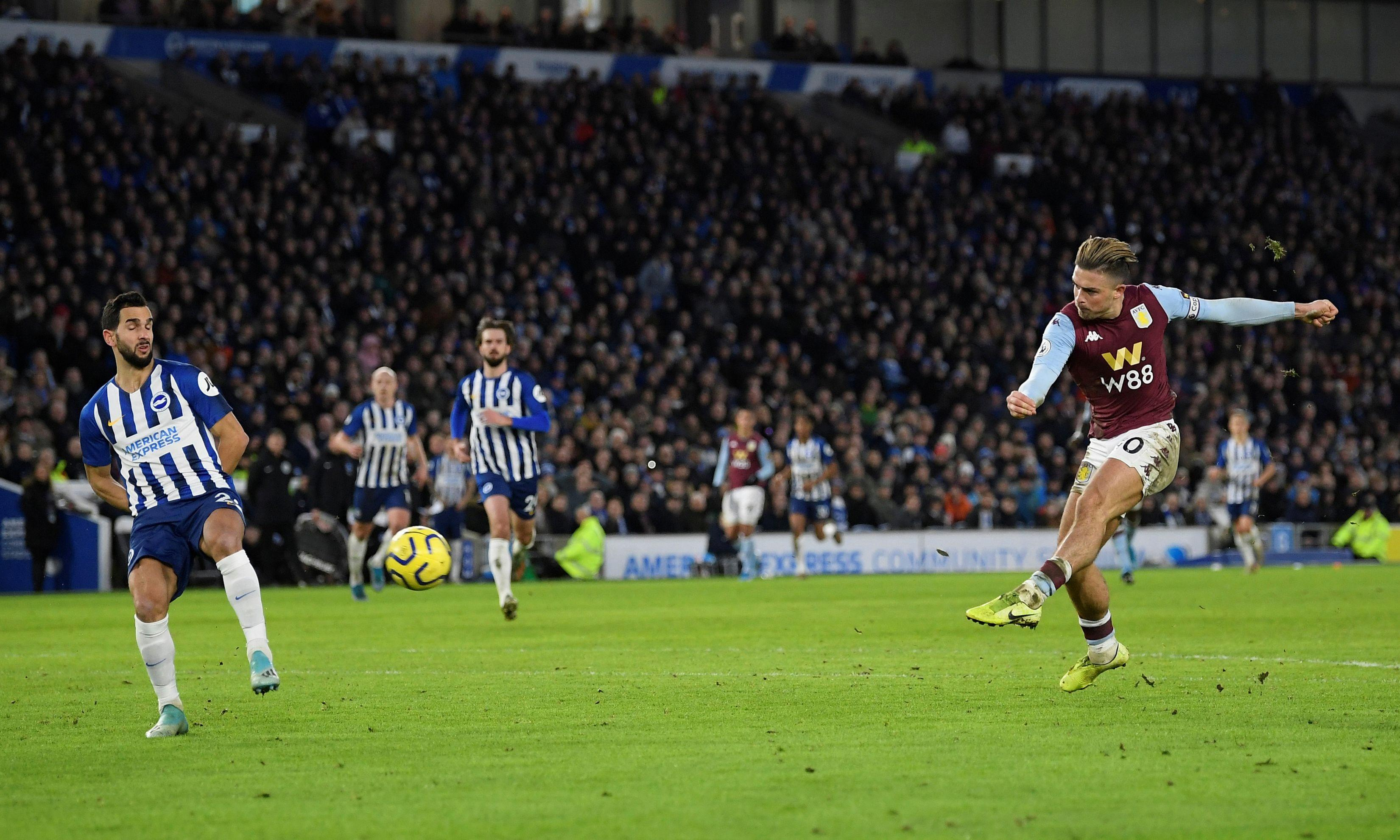 Jack Grealish's strike earns Aston Villa a priceless point at Brighton