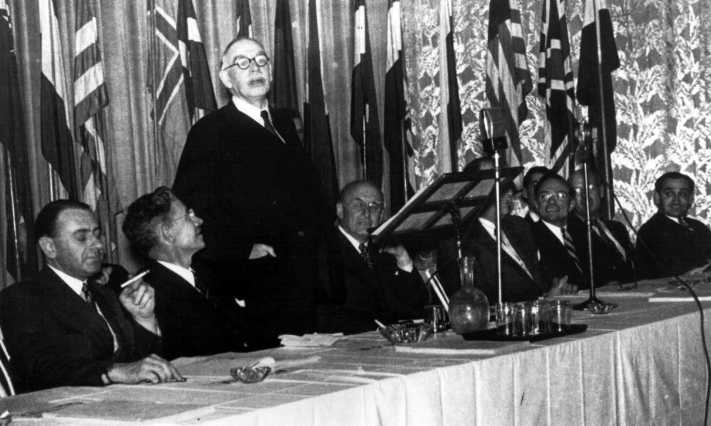 John Maynard Keynes at the Mount Washington Hotel in New Hampshire, 1944