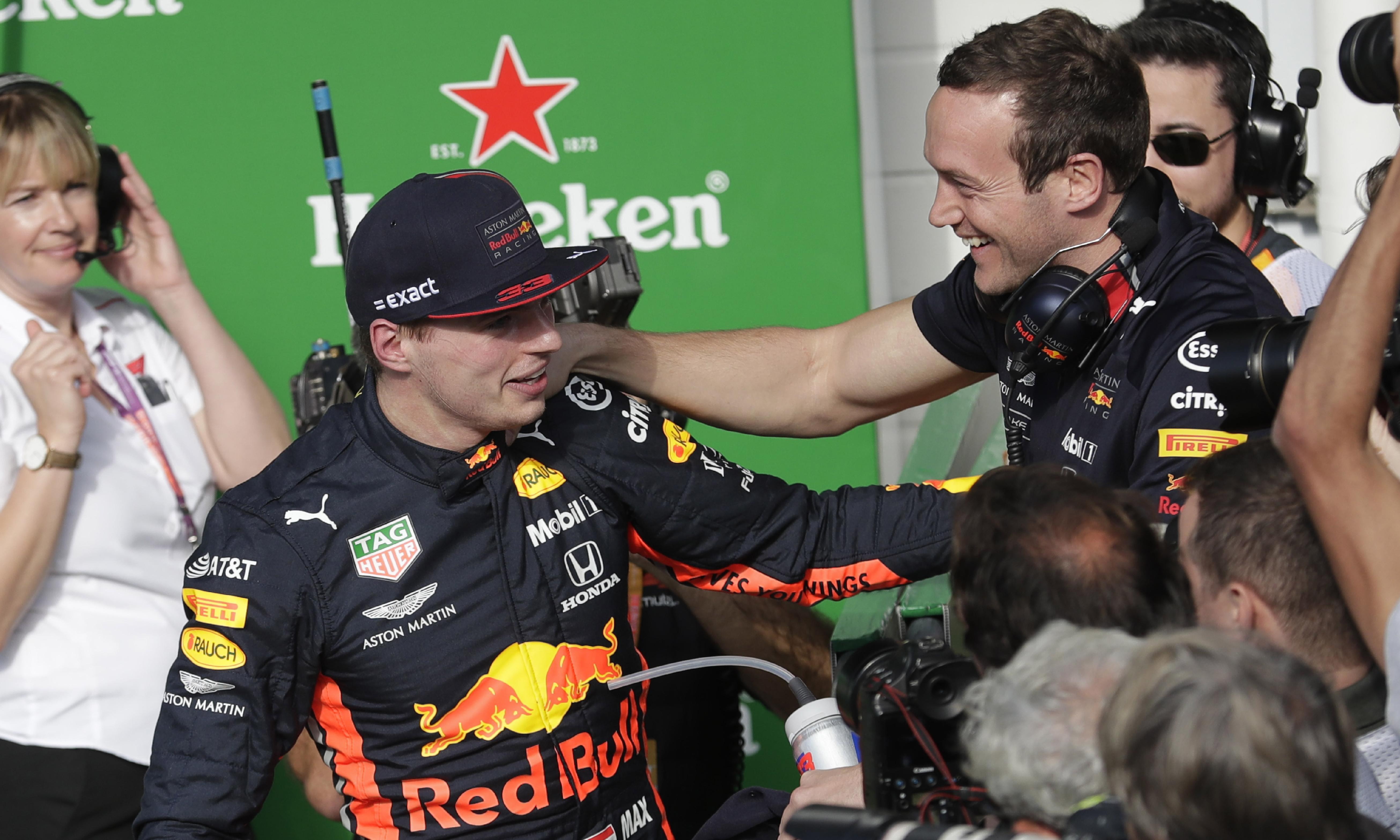 Max Verstappen takes pole for Brazilian GP with Lewis Hamilton in third