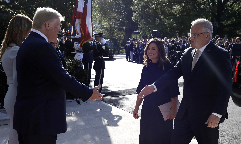 Scott Morrison applauds America's 'moral purpose' while meeting Donald Trump