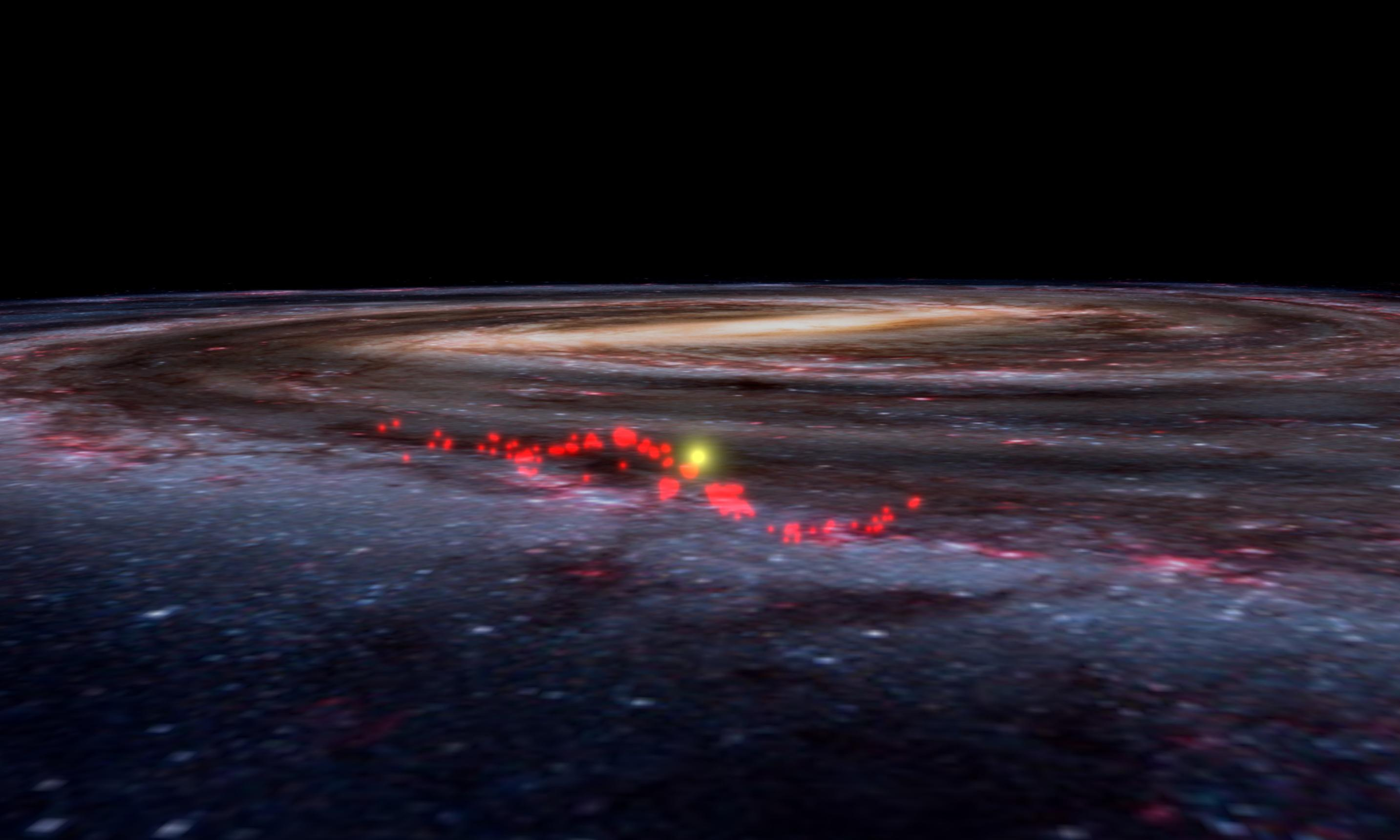 Astronomers discover huge gaseous wave holding Milky Way's newest stars