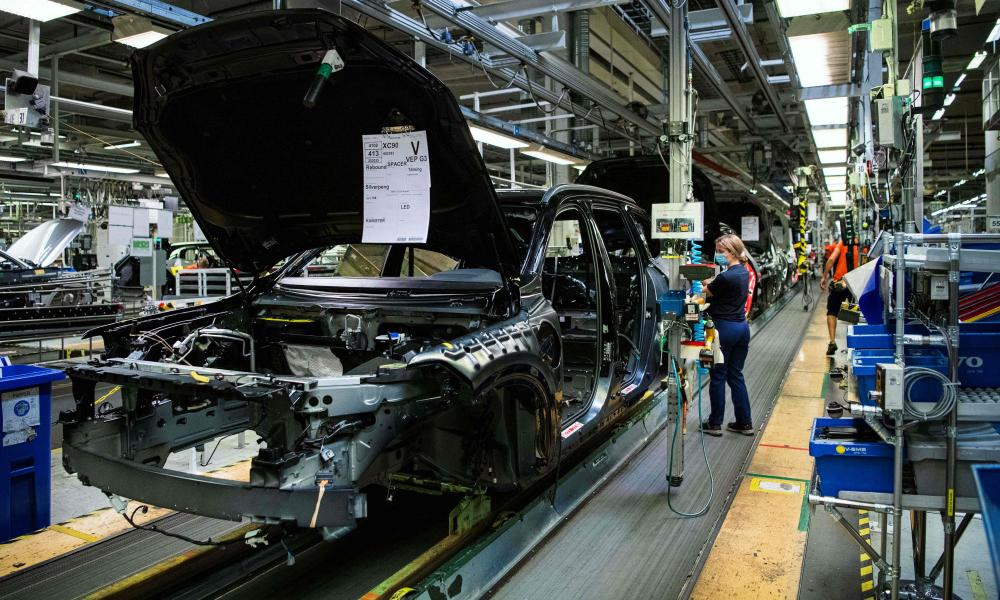 Shortages of microchips are denting car production.