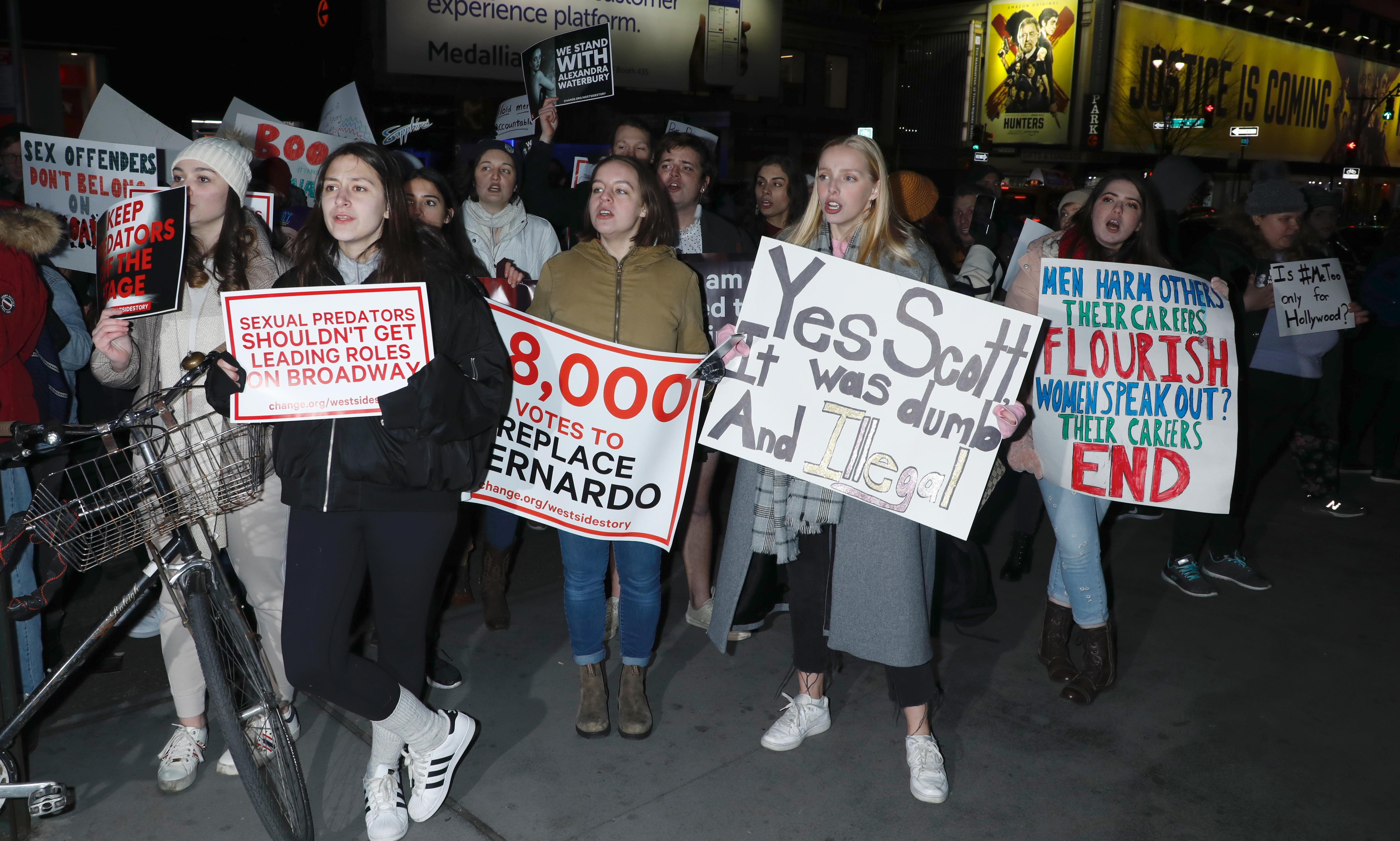 'We can't stand by this any more': inside the West Side Story premiere protest