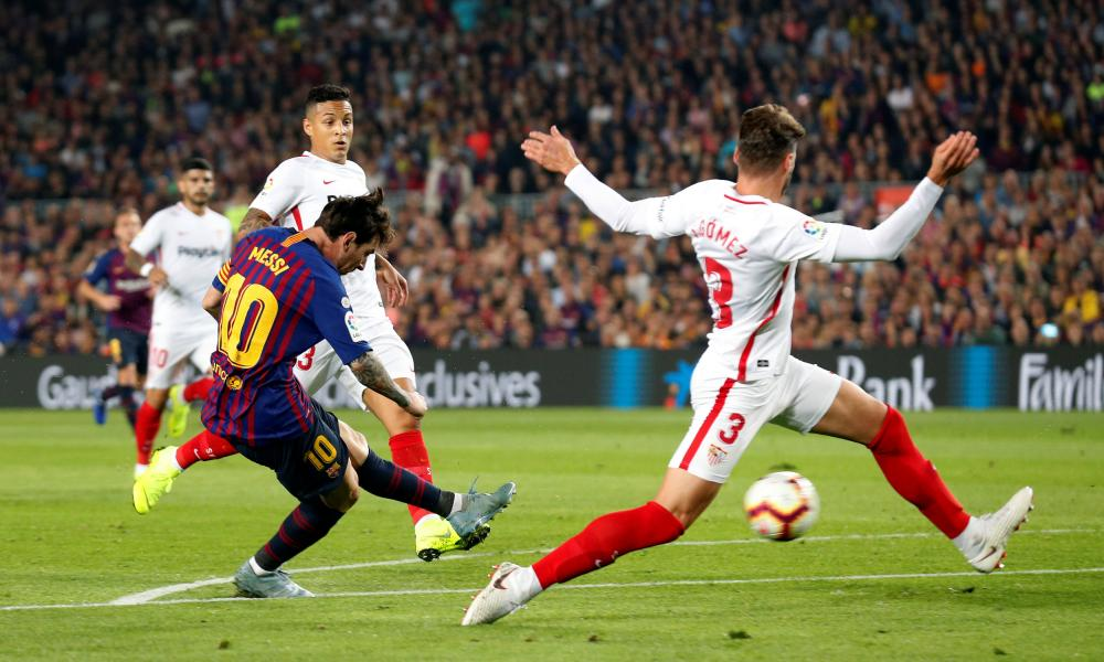 Lionel Messi makes it 2-0 in customary style.