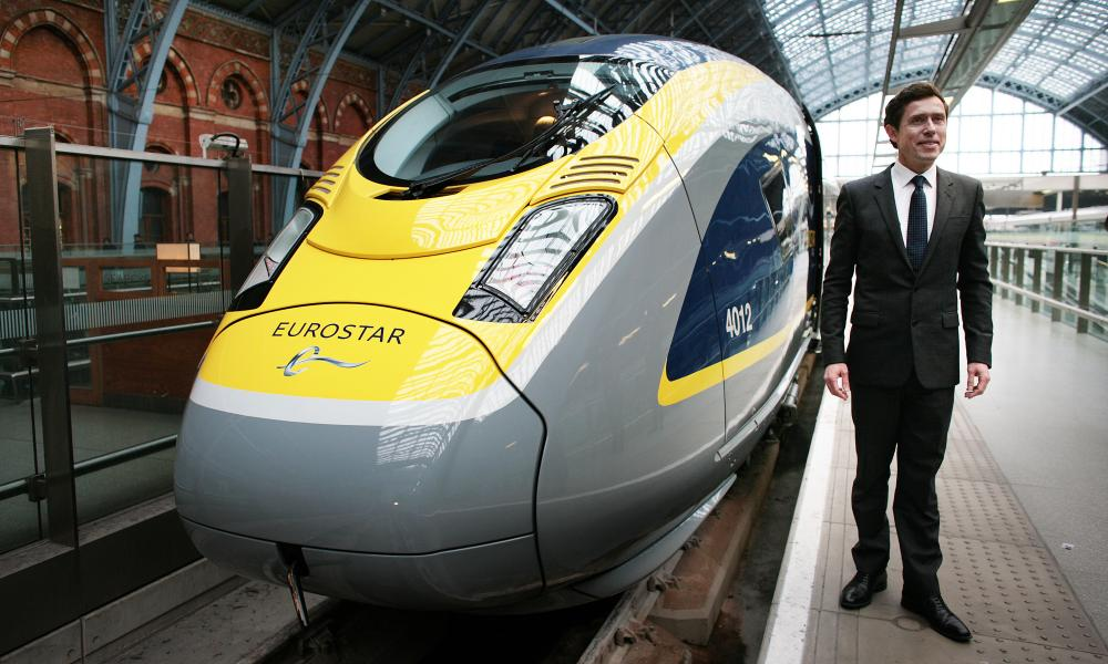 Nicolas Petrovic with one of Eurostar's new trains.