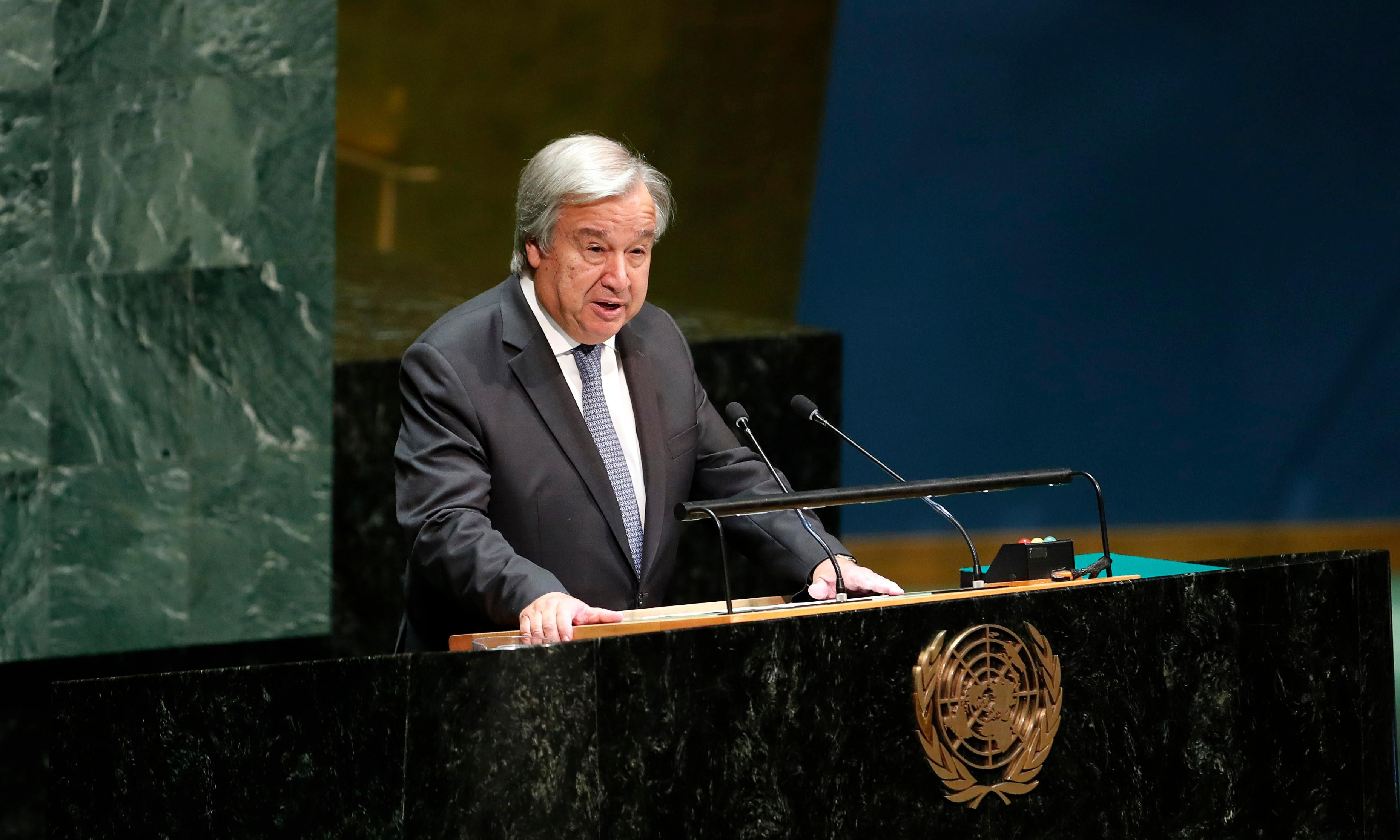 'We're losing the race': UN secretary general calls climate change an 'emergency'
