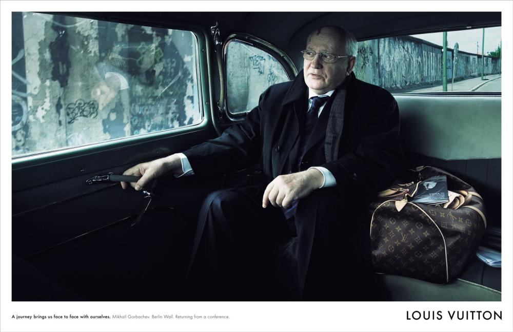 Mikhail Gorbachev in a 2007 ad for Louis Vuitton