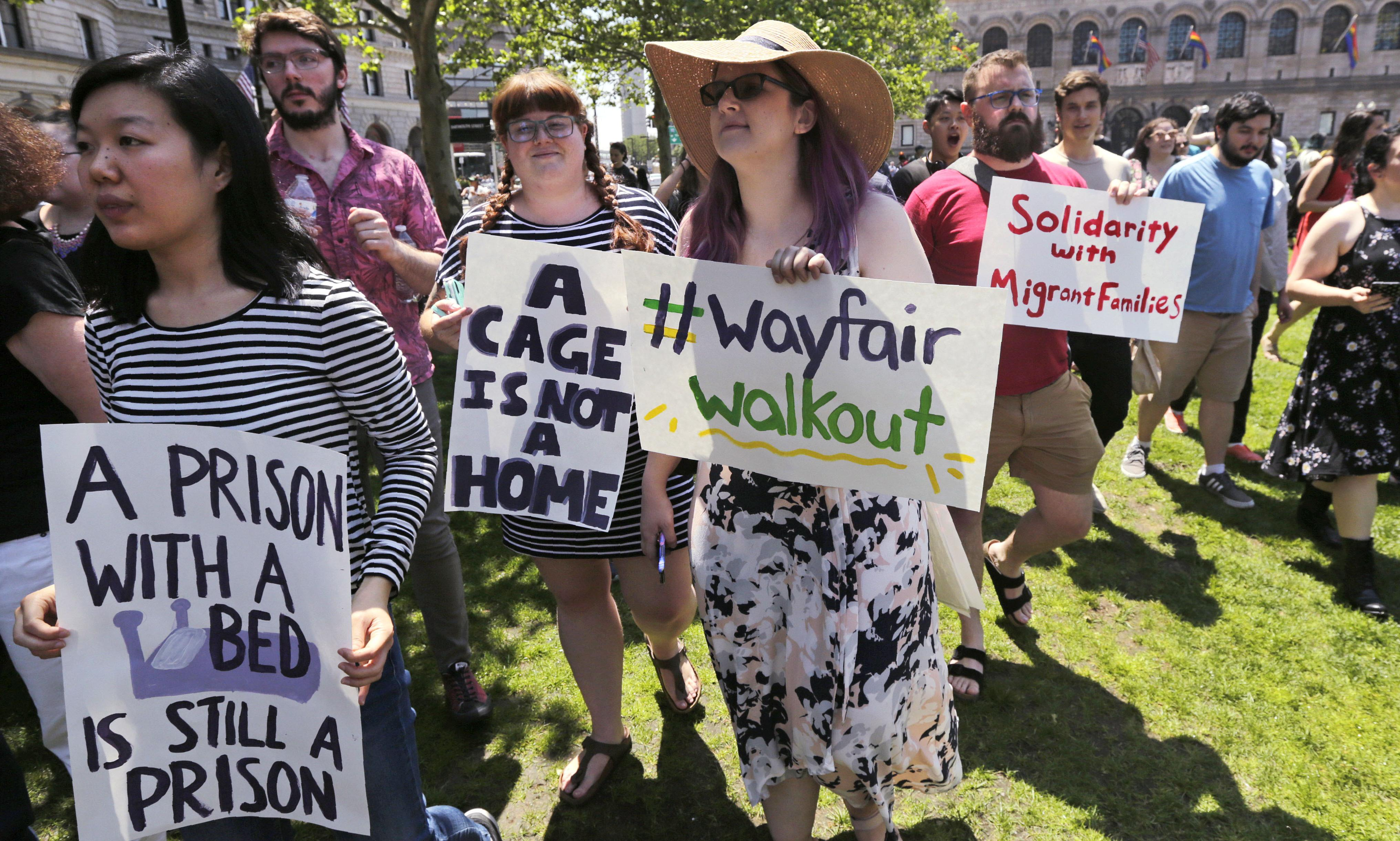 Wayfair employees walk out in protest over sales to migrant detention camps