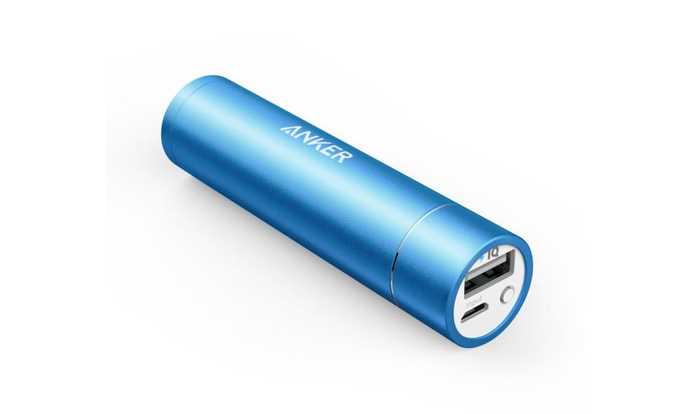 Anker Powercore+ Mini 3350 pocket charger.