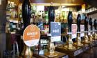 Beers on tap at the Marble Arch