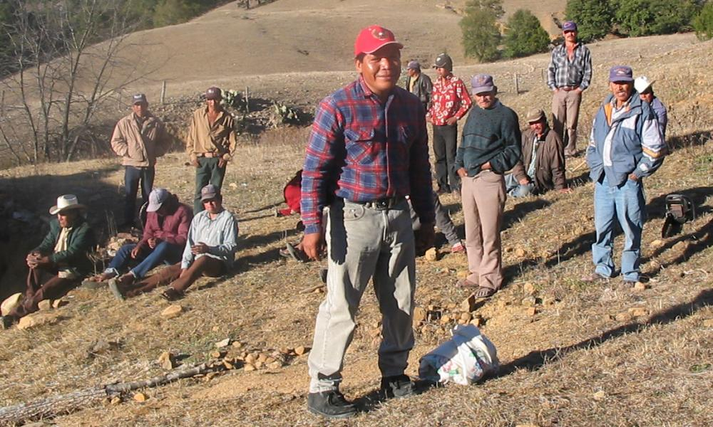 Isidro Baldenegro López (foreground) at home in the village of Coloradas de la Virgen, Chihuahua, where he opposed illegal logging operations.