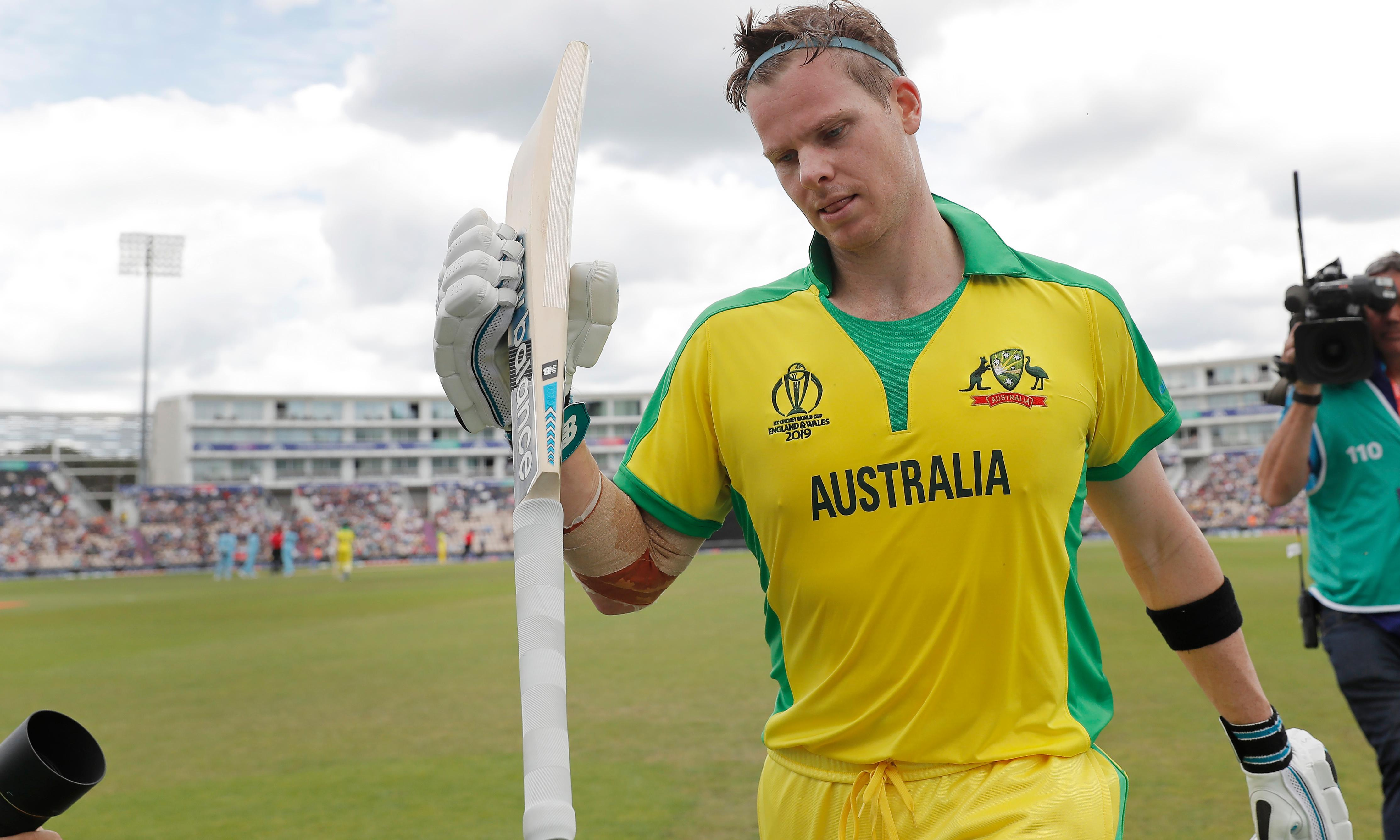Steve Smith's century gives Australia World Cup warm-up win over England
