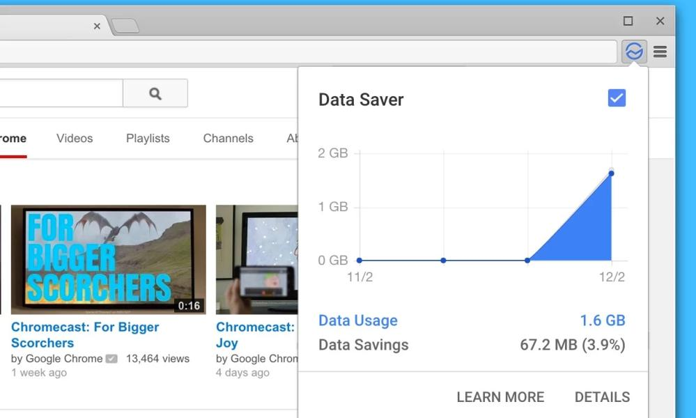 Data Saver extension for Chrome
