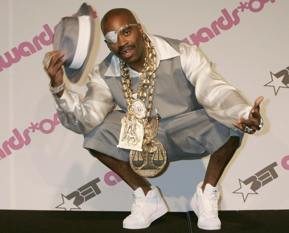 The bejewelled British-born rapper Slick Rick in 2004.