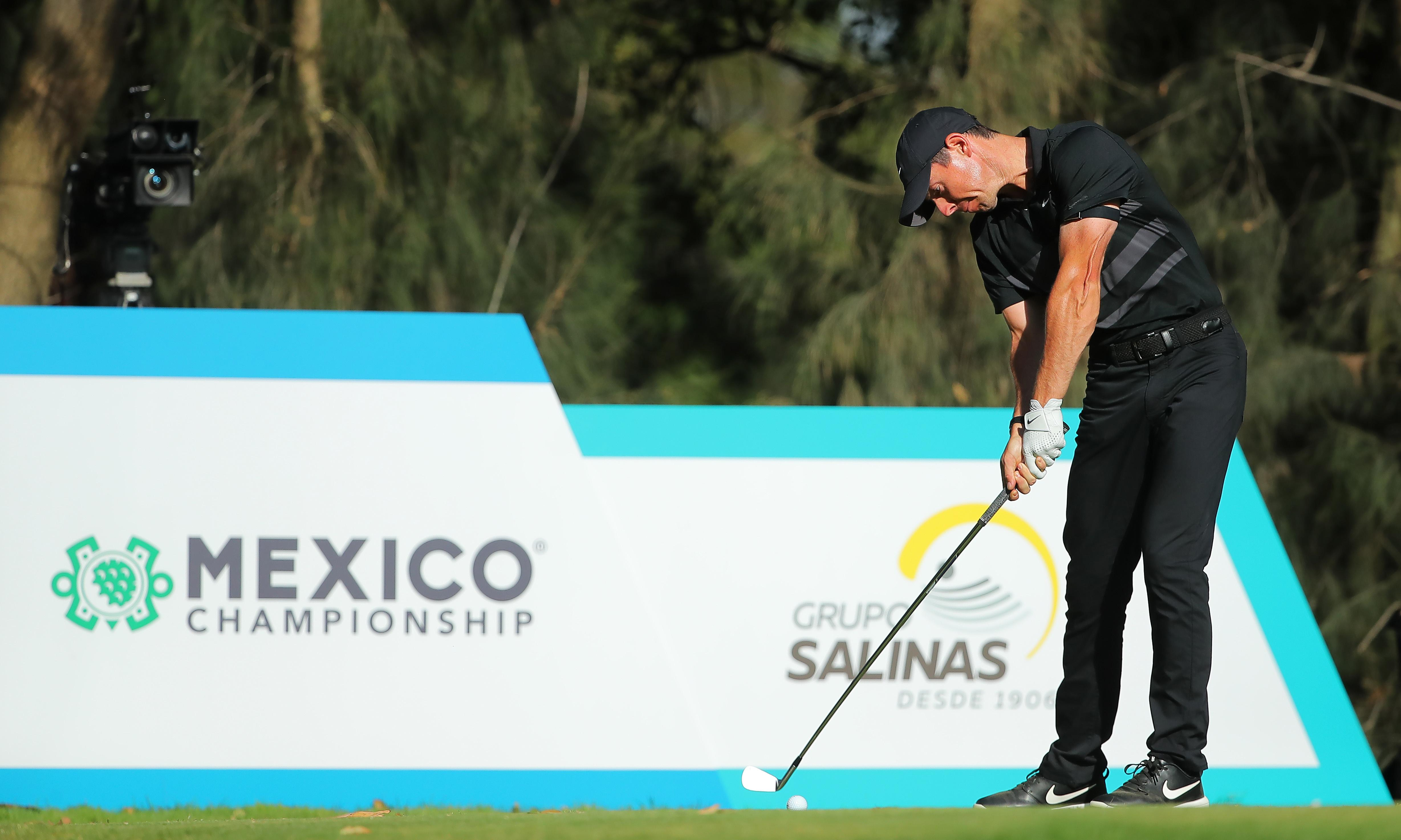 Rory McIlroy does talking on course in Mexico after shunning Premier League