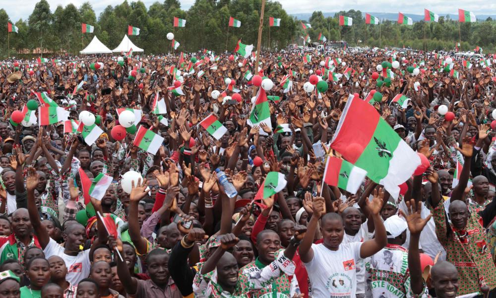 An election rally in Burundi