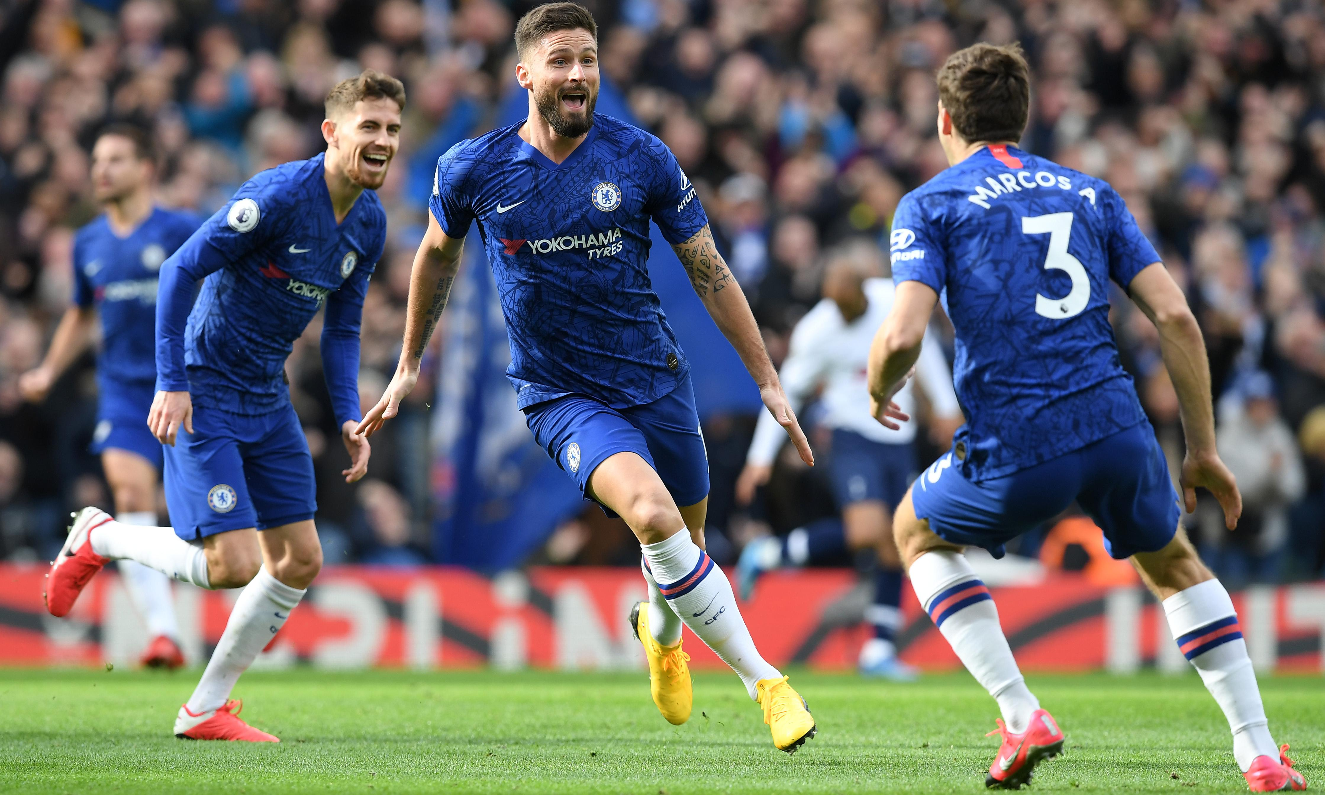 Olivier Giroud ends goal drought with stunner in Chelsea's victory over Spurs