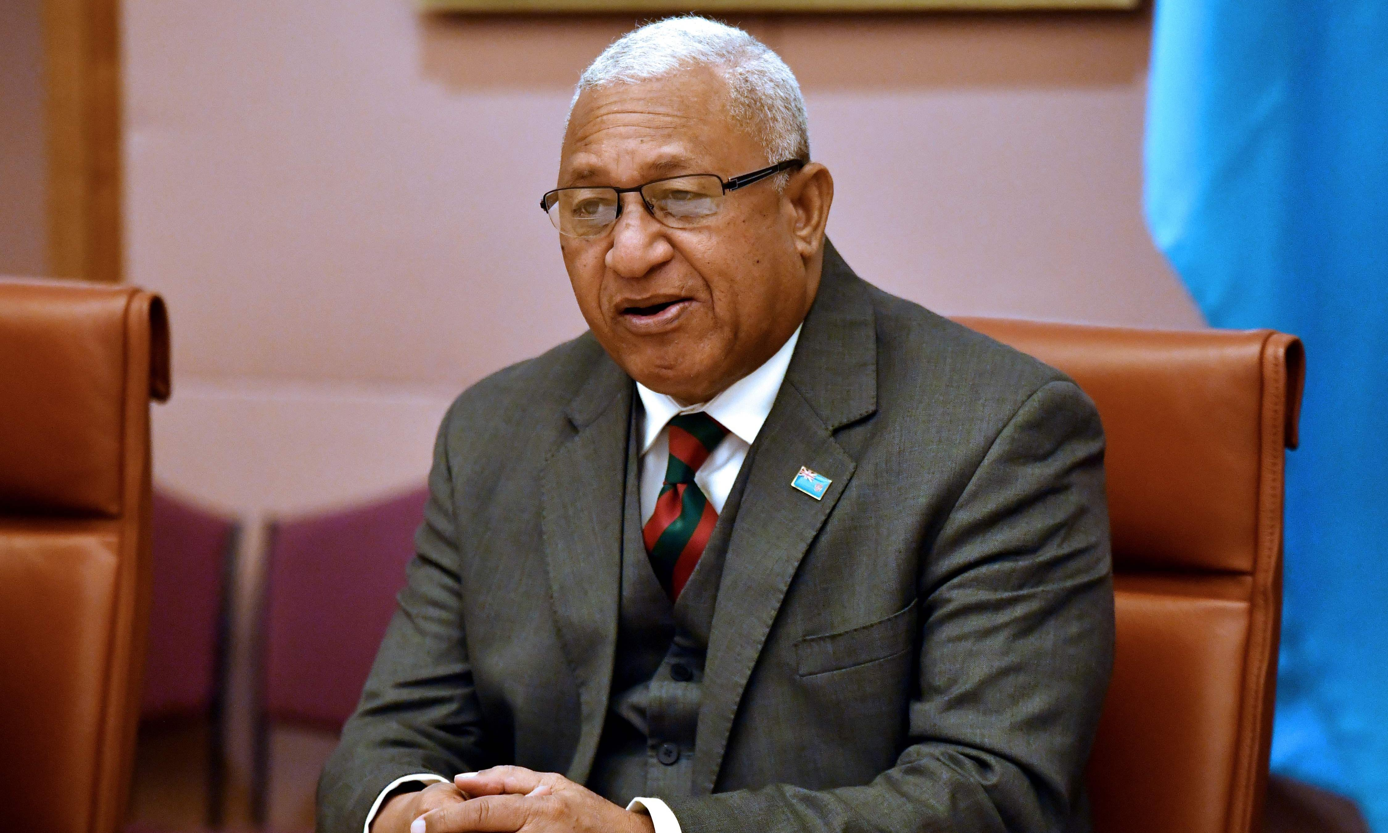 Fiji PM Bainimarama won't face assault charges over carpark tussle with MP