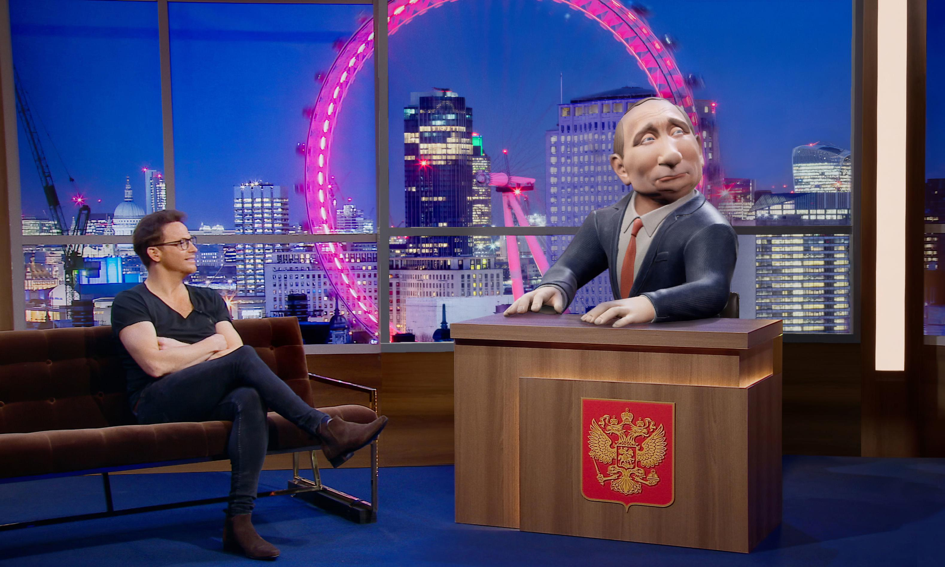 Russian broadcaster hits out at BBC show parodying Putin