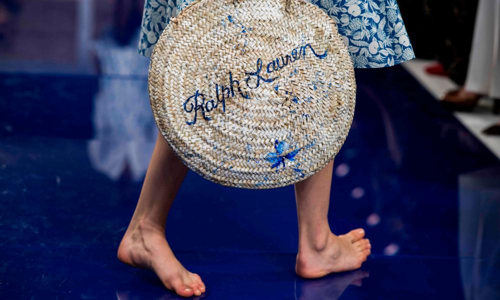 A model on the catwalk at Ralph Lauren