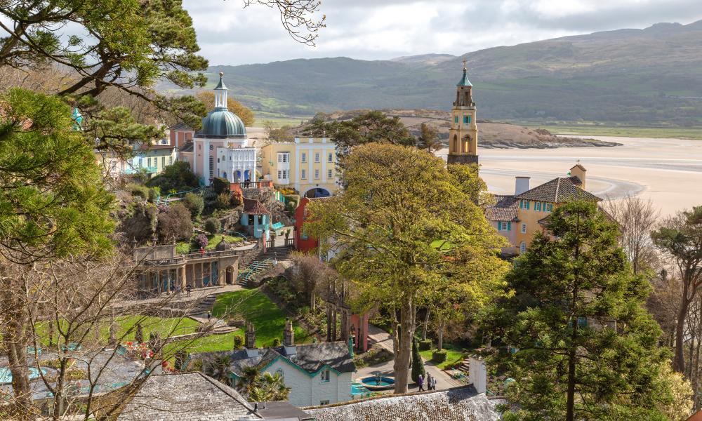 A view of Portmeirion, Gwynedd