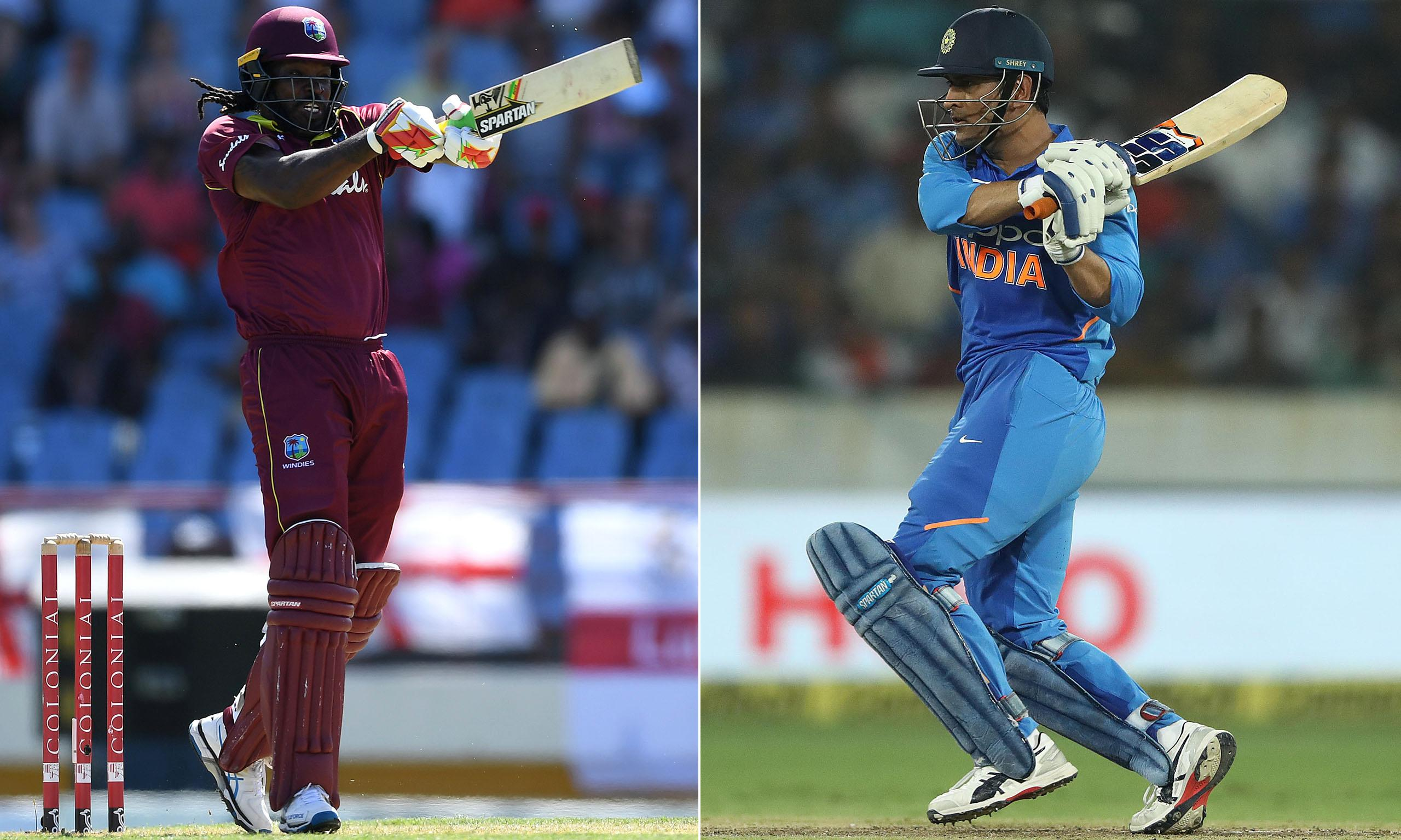 Not out yet: Chris Gayle and MS Dhoni rage against the dying of the light