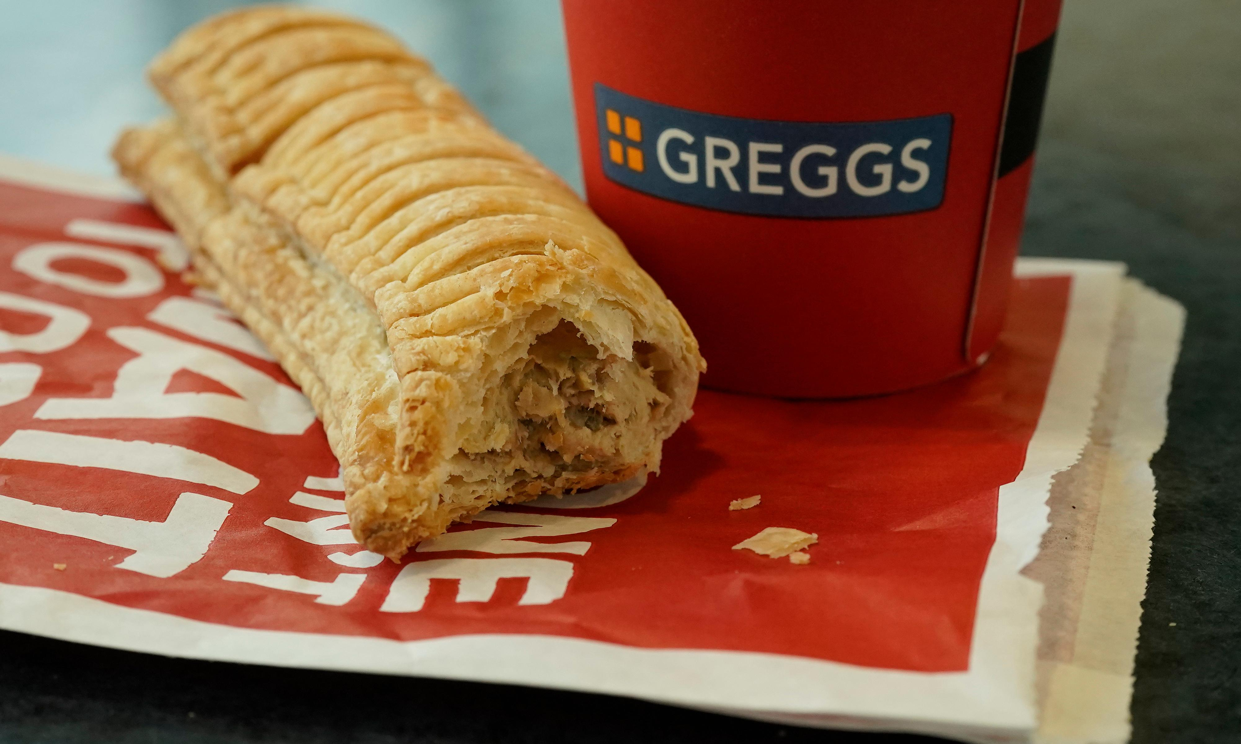 Success of vegan sausage roll gives Greggs surge in sales
