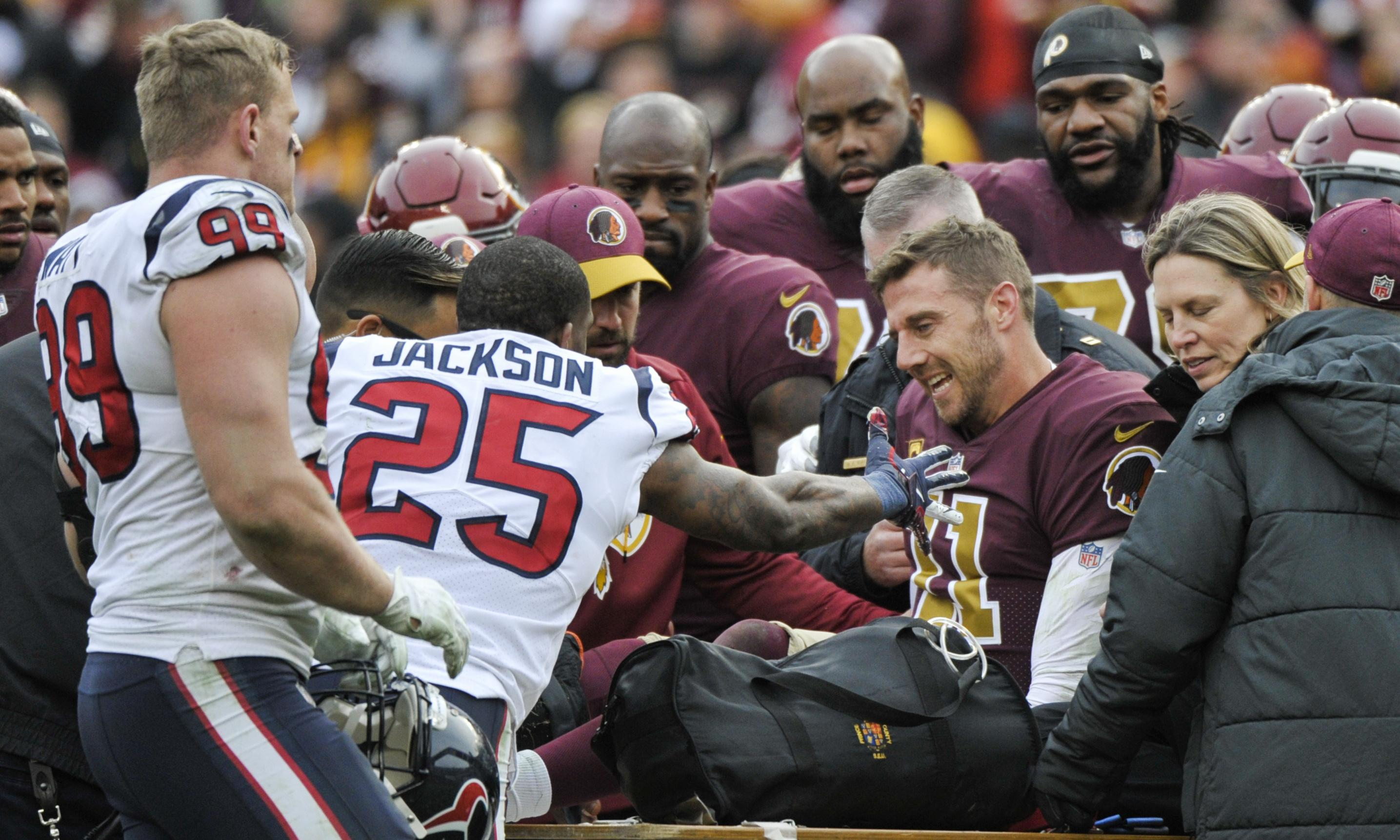NFL round-up: Alex Smith's gruesome leg injury overshadows Washington loss